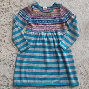 Hannah Andersson Fair Isle Stripe Sweater Dress